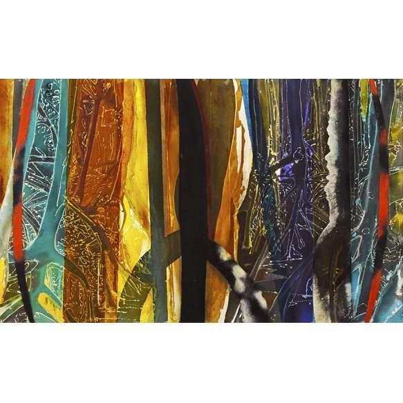 Vergara, Carlos<br /> Sem título. Técnica mista sobre tela, 110x180 cm, 2013, A.V.