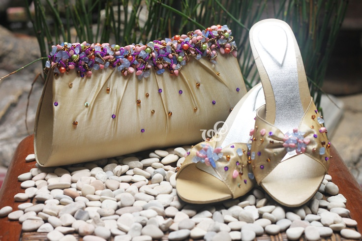 Amaryllis #clutchbag, 25x13cm  Chamomile sandals