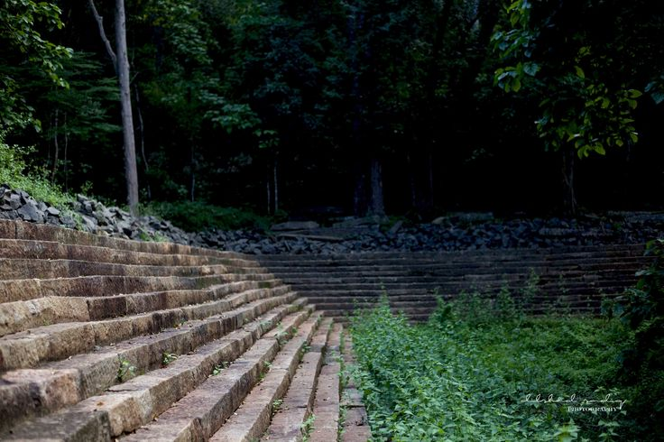 the pedestrian path made out of granite steps at the entrance leading to the interiors of ritigala