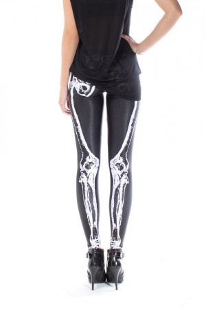 skeleton leggings (halloween idea?)