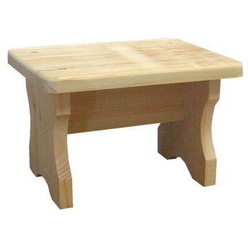 Wood Rectangle Stool
