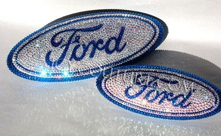Bling-Bling!: ) Select Your Set of Custom Bedazzled Crystal FORD emblems. Whats your colors?
