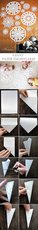 Giant Paper Snowflakes - Hattifant