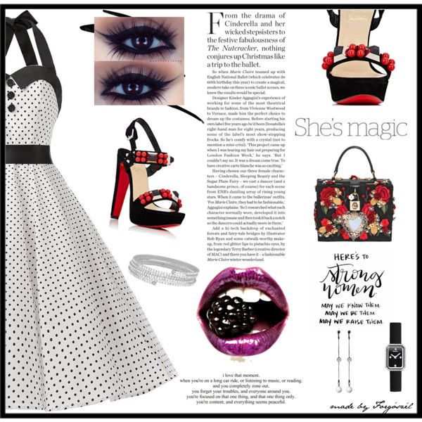 A fashion look from March 2017 by forgoszel featuring Christian Louboutin, Dolce&Gabbana, #belt #contestentry #contest #fashioninspiration #fashion #fashionset #fashionable #style #streetstyle #stylish #spring #spring2017 #outfit