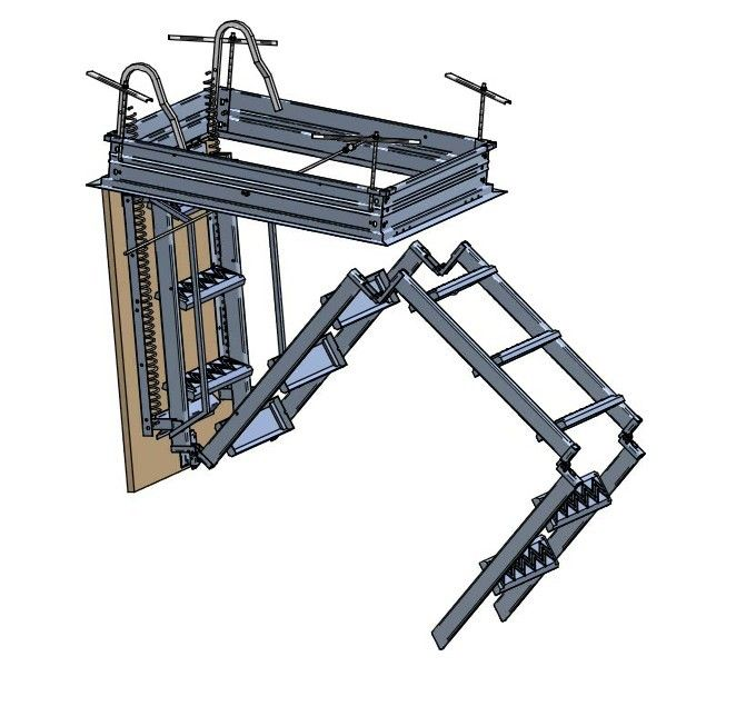 Escalera escamoteable de techo modelo tramo de techo - Escalera plegable altillo ...