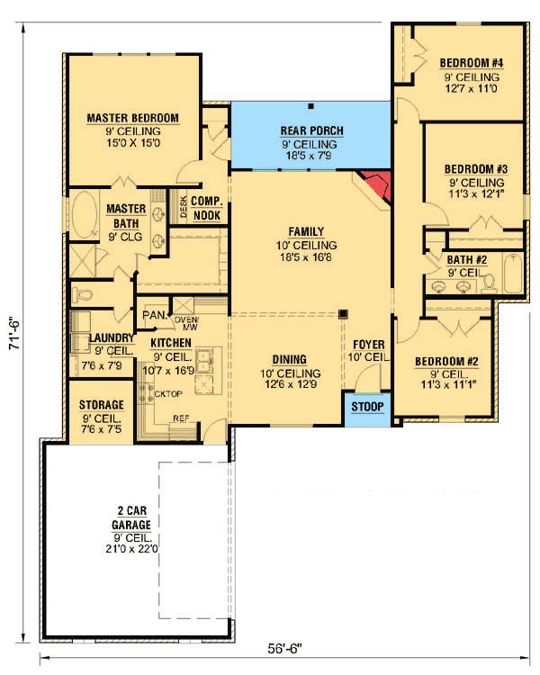 Plan 56320sm Open Concept French Country Country House Plans Energy Saving House House Plans