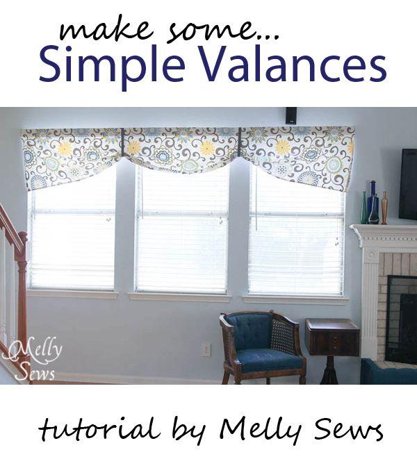 simple valances tutorial                                                                                                                                                     More                                                                                                                                                                                 More