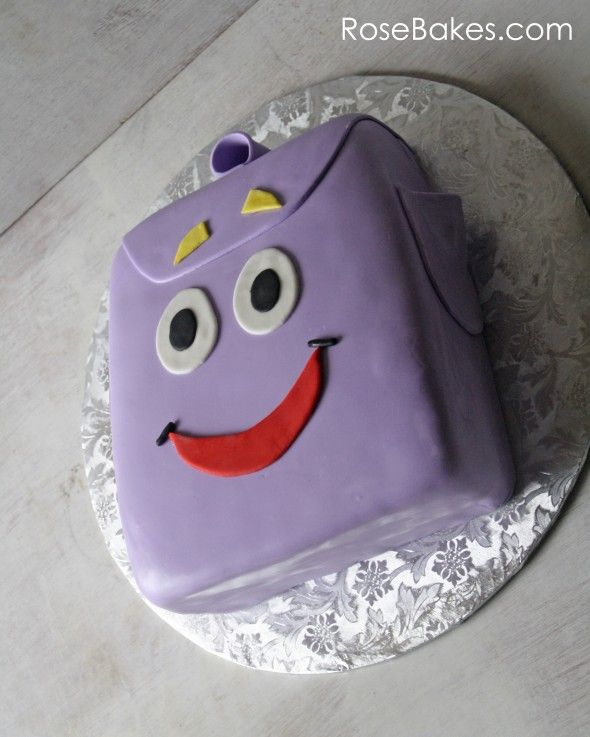 Dora the Explorer Backpack Cake