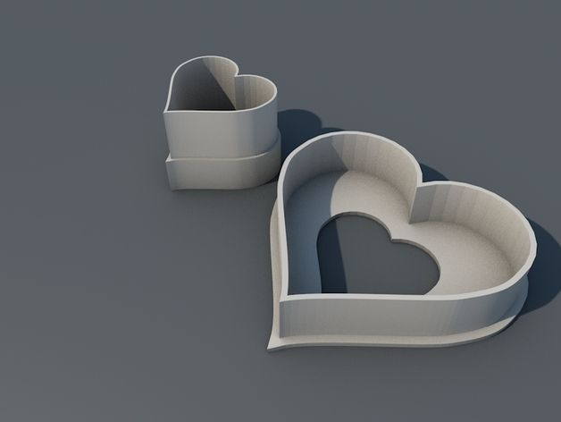 Spitzbuben Ausstecher, Cookie Cutter Heart by sunnyx - Thingiverse