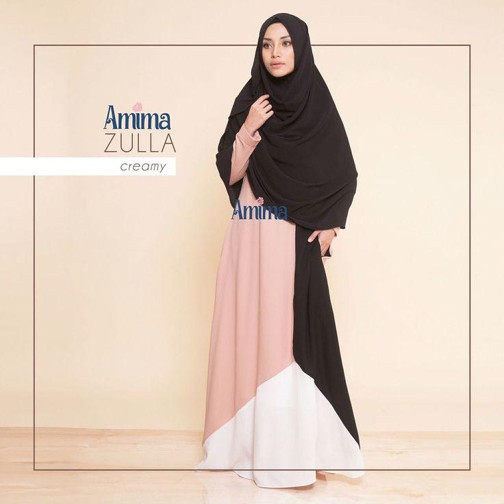 Gamis Amima Zulla Dress Creamy - baju muslim wanita baju muslimah Untukmu yg cantik syari dan trendy . . Size:  S ---> LD 94 | PJG 137 M ---> LD 100 | PJG 140 L ---> LD 106 | PJG 140 . . Detail : - Material bahan :  CREPE HQ (POLYESTER CREPE) bahannya flowy bisa swing-swing cocok untuk travelilng (ironless) dan cocok untuk acara formal - Dress dengan design timeless dan elegant zipper depan perfect untuk #busui #nursingfriendly - Terdapat aksen cutting diagonal pd bag bawah membuat dress ini…