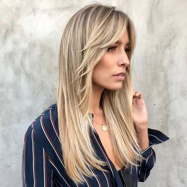 Long Layered Haircuts With Bangs Long Layered Hair In 2019 In 2020 Long Hair With Bangs Thick Hair Styles Layered Haircuts With Bangs