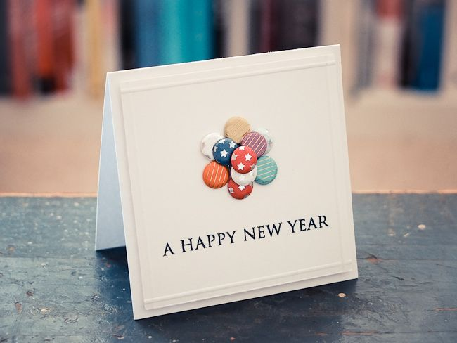 A Happy New Year Card #handmade card #clean and simple card