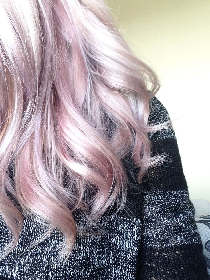 Lavender and pastel peachy pink. #wella #instamatic