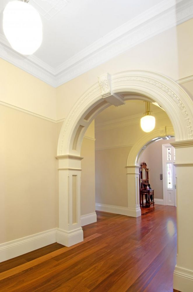 Large Custom Archway made to suit Dimensions & design with AFP13 Wrap around Pilasters below Archway.