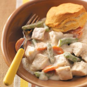 Creamy Turkey a la King Recipe from Taste of Home -- shared by Valerie Gee of West Seneca, New York