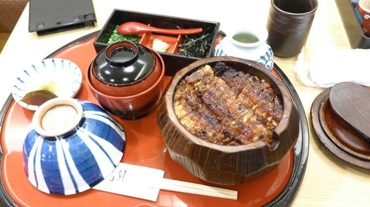 """【Aichi Pref】one of Nagoya's special dishes""""Hitsumabushi"""",a bowl of rice topped with grilled eel. soooo delicious!!!"""