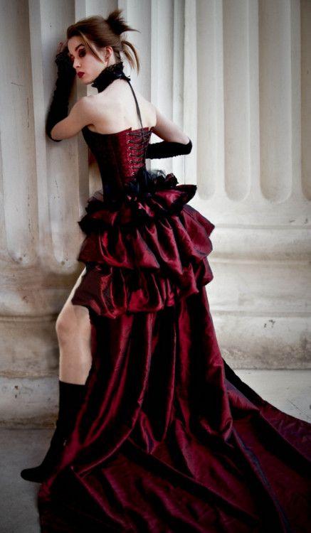 Victorian Gothic Wedding Dress - kinda mordern steampunk, minus clockwork.