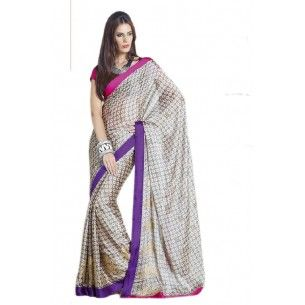 SILK GEORGETTE PARTY WEAR SAREE WITH BLOUSE  Shop Now - http://www.valehri.com/silk-georgette-party-wear-saree-with-blouse