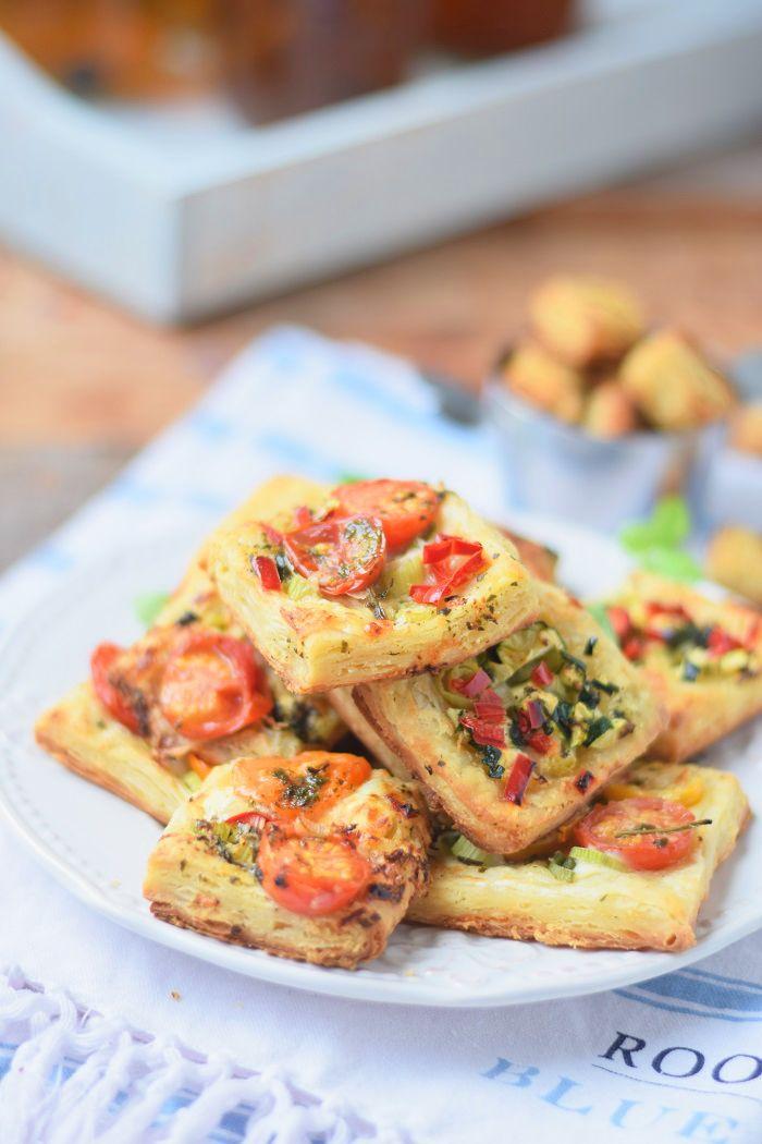 Blätterteig Snack - Puff Pastry Summer Snack #howto #puffpastry | Das Knusperstübchen