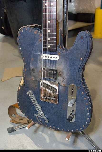 Fender 'Blue Jean' Guitar, denim, fashion, Rock and Roll