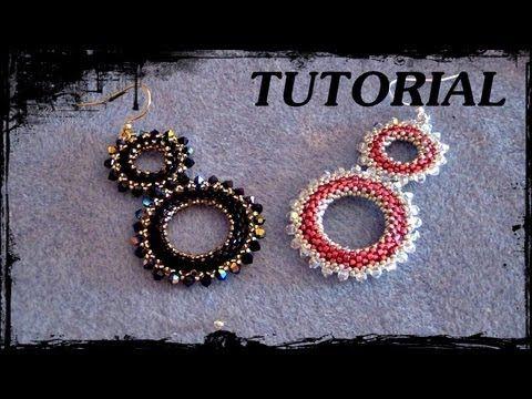"""Tutorial Perline: Orecchini """"Round"""" realizzati con perline delica, rocaille e swarovski"""