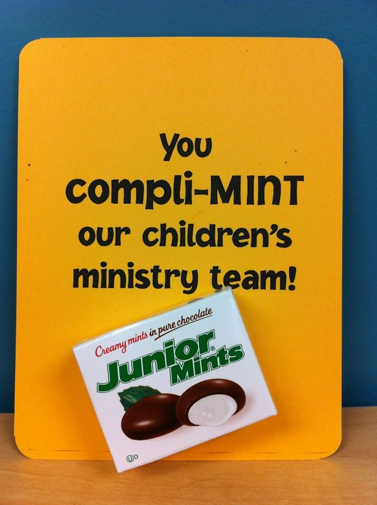 Church Volunteer Appreciation Gifts | Children's Ministry teacher or volunteer note of appreciation.