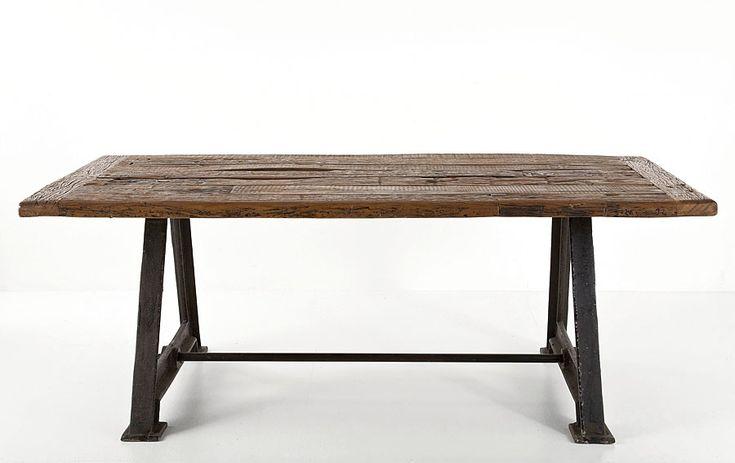 Mesa comedor Railway   Material: Madera de Fresno   Mesa realizada con hierro y madera reciclada.Comedor,Mesa,Railway,Vintage... Eur:1299 / $1727.67