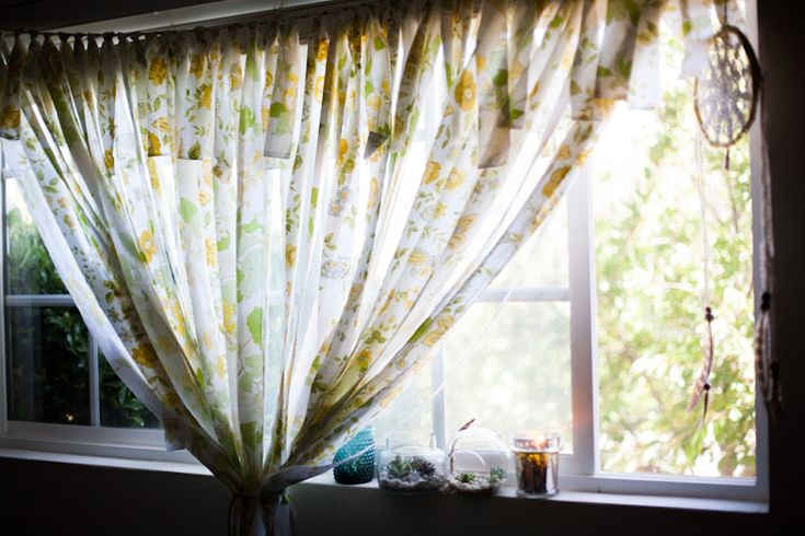 Make your own curtains with a fabric banner!