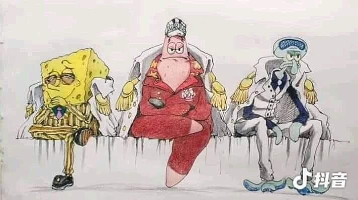 The three Admirals: Spongebob edition   Crossover   One ...