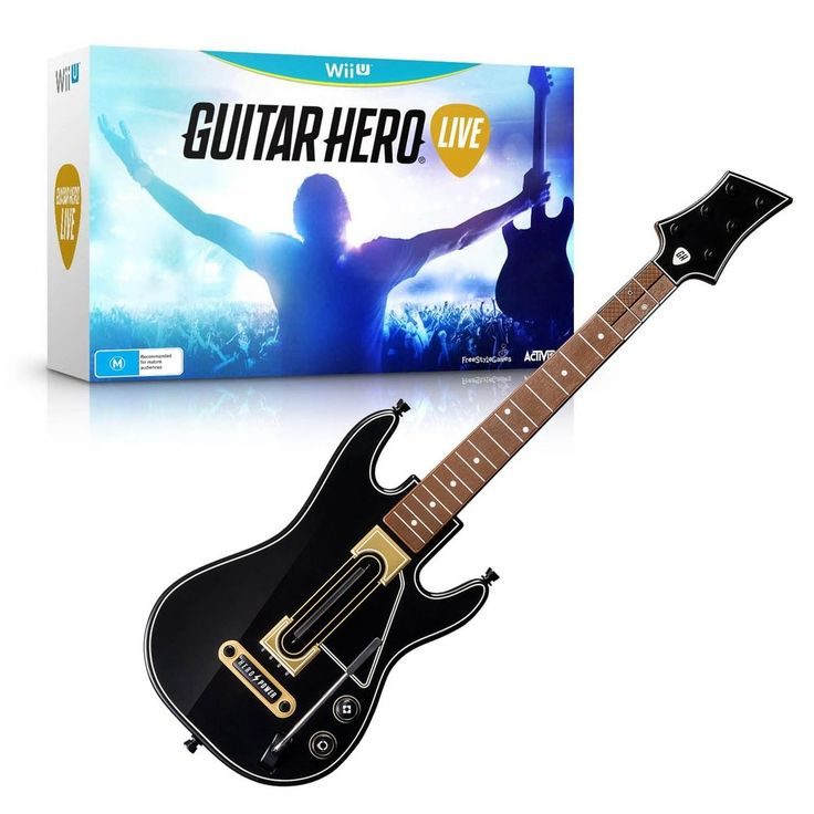 Nintendo Wii U Guitar Hero Live - Guitar + Game + Batteries - Brand New Sealed #Nintendo