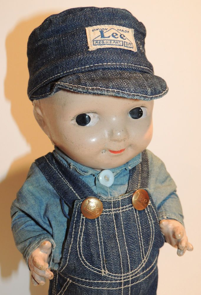 1920's BUDDY LEE OVERALLS COMPOSITION ADVERTISING FIGURE ...