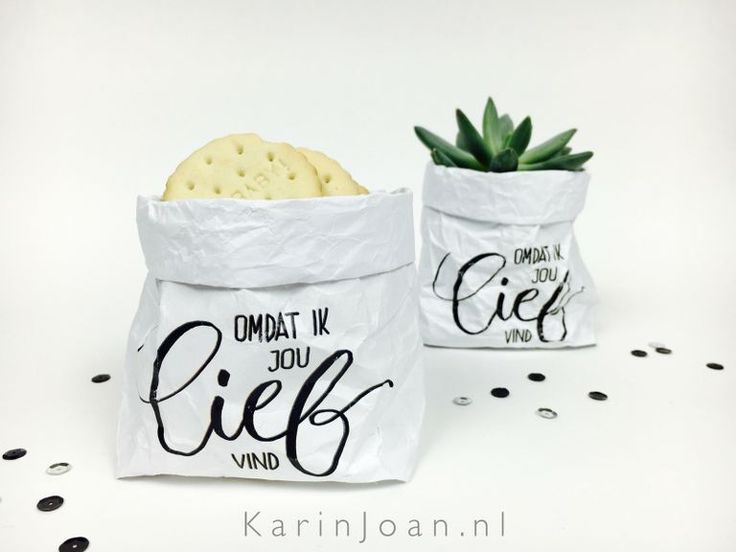 Karin Joan: ZELFMAKEN mini Paper BAGGIES