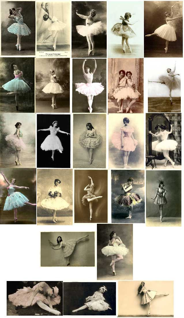 Vintage Ballerina Image Download Contents