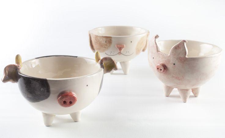 www.astralobjetos.com / ceramic pot, Macetas de animales con patitas. Ceramica hecha a mano - Handmade ceramic