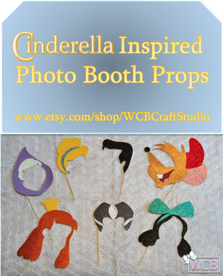 "Inspired by Disney classic ""Cinderella,"" this photo booth prop set will work its Bibbidi-Bobbidi-Boo spell as the spotlight is set on you at the kingdom ball. But remember, the charm ends at midnight!"