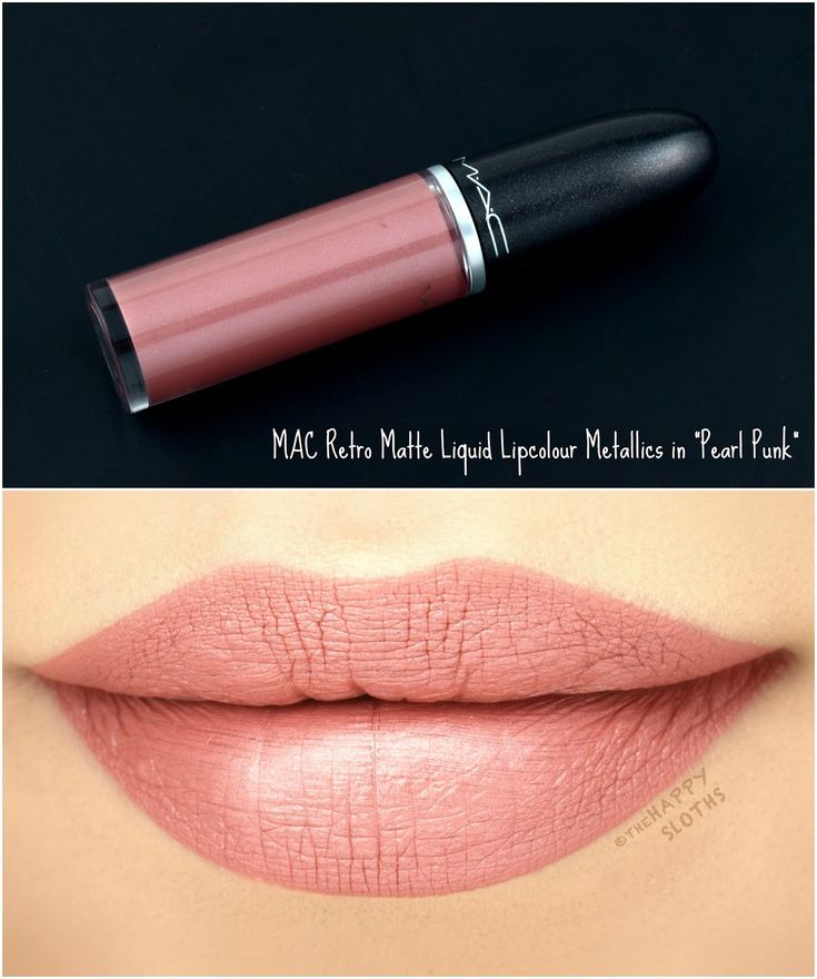 "MAC Retro Matte Liquid Lipcolor Metallics in ""Pearl Punk"": Review and Swatches"
