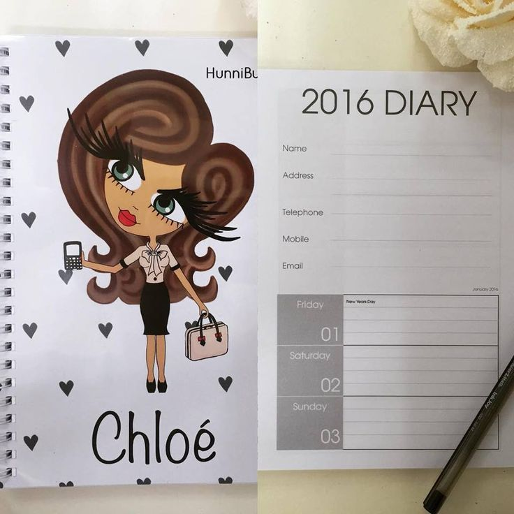 HunniBunni Babes Personalised A5 2016 Diary