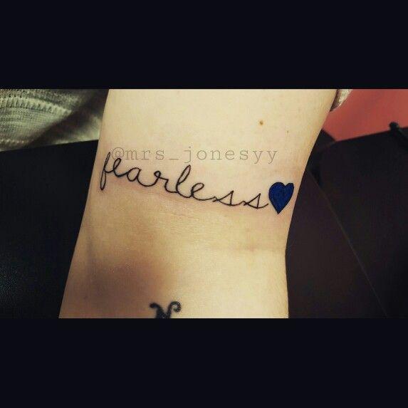 My new tattoo. Fearless tattoo. Cop tattoo. Leo tattoo. Law enforcement officer tattoo. Blue lives matter.