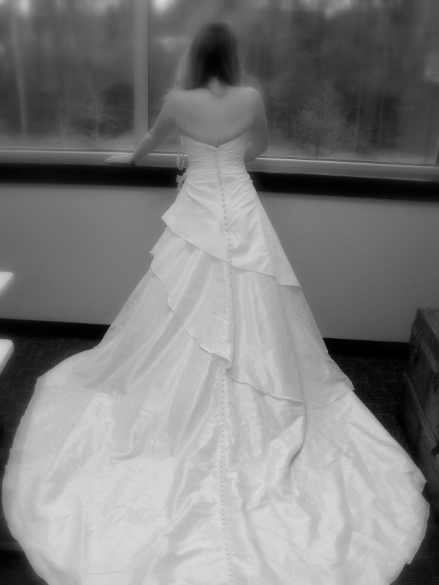 Incredibly beautiful wedding dress found at Goodwill! Find yours! http://mokangoodwill.org/shop/find-a-store-near-me/