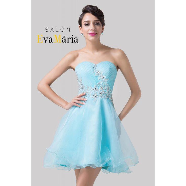 Salonevamaria.sk Idena modré šaty, koktejlové šaty, šaty na stužkovú, šaty na…