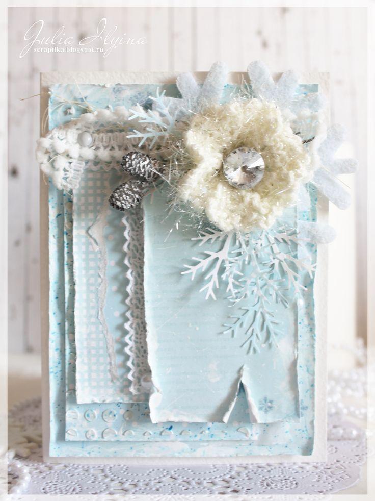 card, new year, scrapbooking, скрапбукинг, открытка, новогодняя открытка