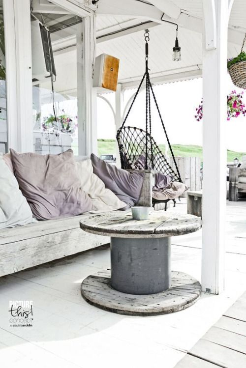 front porch. swing.