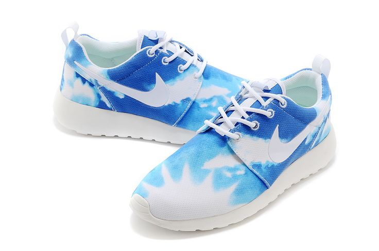 2015 low-priced Water Blue and White Nike Roshe Run Ocean