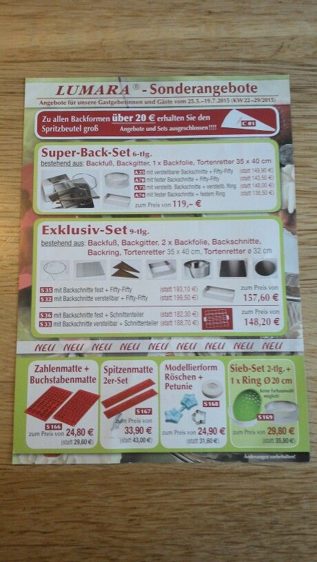 Angebote Juni/Juli 2015