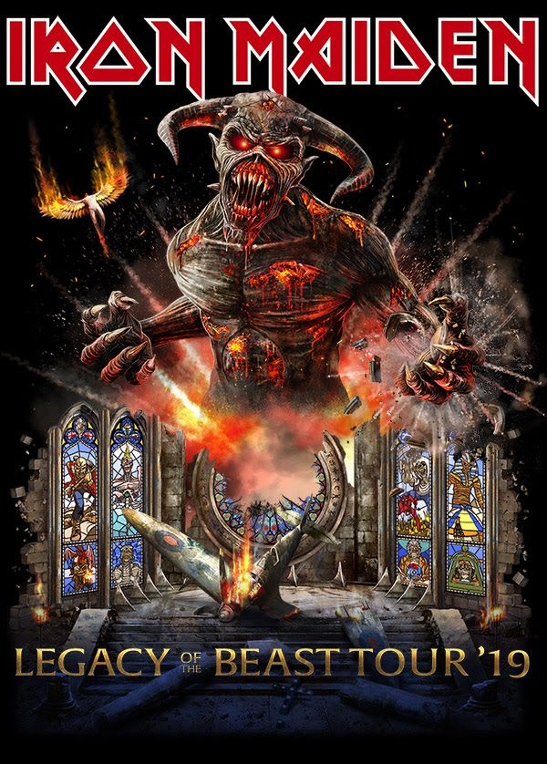 Legacy Of The Beast Tour 2019 Iron Maiden Posters Iron Maiden Albums Iron Maiden Album Covers