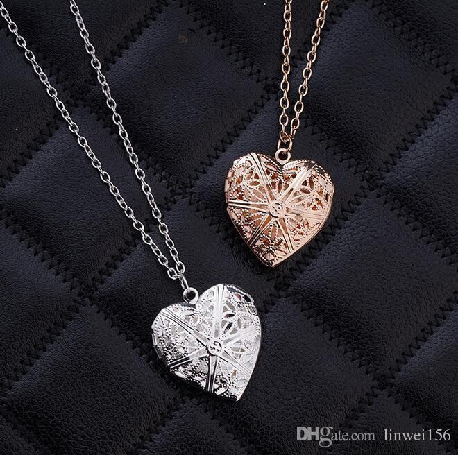 Love Heart Necklace, Love Pendant Necklace, Couples Necklace Girlfriend Necklace, Silver Color And Rose Gold Color Necklace Necklace Pendants Garnet Pendant Necklace From Linwei156, $26.14| Dhgate.Com