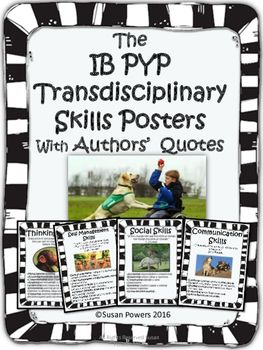 Making the IB PYP meaningful and authentic. This set of classroom posters include language from the International Baccalaureates description of the Transdisciplinary Skills.  Each poster comes with endearing and funny pictures of animals, to help visualise the meaning behind the words and their kid friendly explanations.