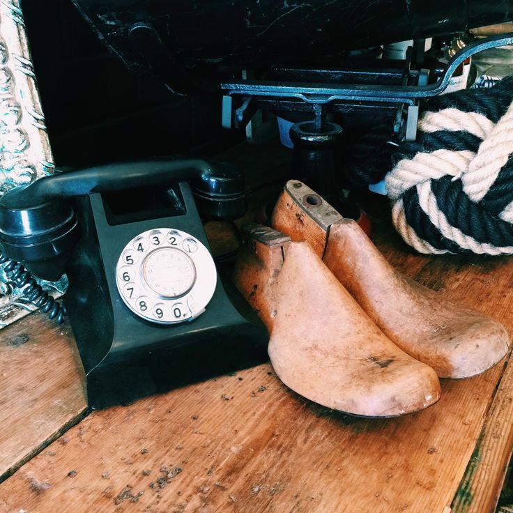 Everything old is new again. #vintage #vintagephone #old #wellworninteriors #wellworn #interiors #rustavalon