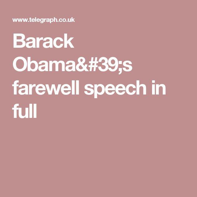 Barack Obama's farewell speech in full
