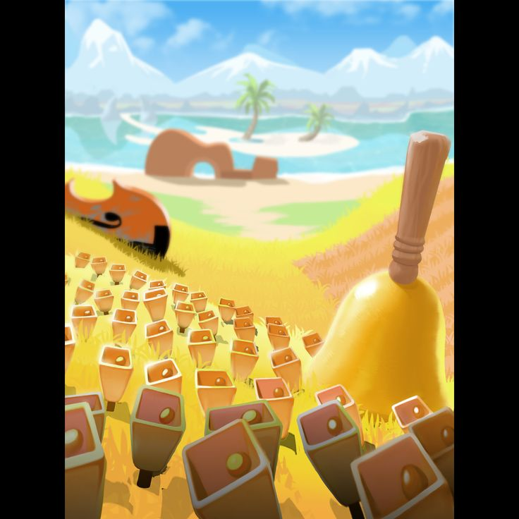The land of bells // Music inspired background art in Melody Monsters mobile game